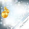 球和雪花的圣诞贺卡 | 向量插图