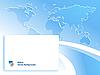 Streszczenie niebieskim tle z mapy świata | Stock Vector Graphics