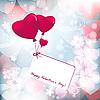 Vektor Cliparts: valentine floral-Karte