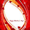 Vektor Cliparts: Valentinstagkarte mit Blumenherz