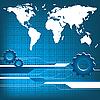 Welt-Technologie Hintergrund