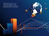 Hintergrund mit Globus und Dollar