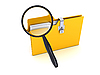ID 3091583 | Gelber Ordner mit Lupe | Illustration mit hoher Auflösung | CLIPARTO