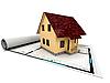 Haus auf einem Plan | Stock Illustration