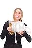 ID 3092709 | Mädchen feiert Weihnachten mit einem Sektglas | Foto mit hoher Auflösung | CLIPARTO