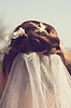 Hair bride with veil | Stock Foto