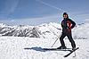 ID 3093123 | Mann im Ski-Anzug in den Bergen | Foto mit hoher Auflösung | CLIPARTO