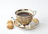ID 3121672 | Filiżanka herbaty na spodek z cukru i pieczenia | Foto stockowe wysokiej rozdzielczości | KLIPARTO