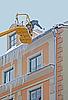 ID 3124277 | Arbeiter reinigt Schnee und Eiszapfen | Foto mit hoher Auflösung | CLIPARTO