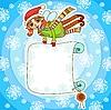 Weihnachts-Elf mit Plakatt