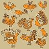Ornamentale Vögel | Stock Vektrografik
