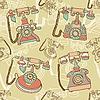 Nahtloses Muster mit Retro-Telefonen