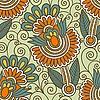 Nahtloses ornamentales Blumenmuster | Stock Vektrografik