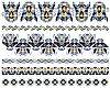 Set von bestickten ukrainischen Kreuzstich-Mustern