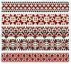 Sammlung von bestickten ukrainischen nationalen Ornamenten