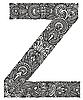 ornamentaler Buchstabe Z