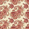 Paisley bez szwu wzór kwiatowy | Stock Vector Graphics