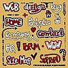 Set von Hand zeichnen Schriftzug Web-Design-Element