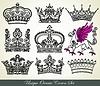 Set von heraldischen Kronen