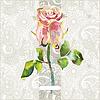 kunstvollen floralen Muster mit rosa Aquarell Rose