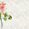 kunstvolles florales Muster mit rosa Aquarell-Rose