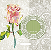 kunstvolles florales Muster mit Aquarell-Rose