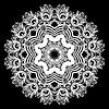 rundes Ornament, ornamentale Spitzen