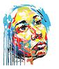 Ursprüngliche Acrylmalerei Farbe Portrait von Frauen