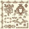 dekorative Design-Elemente