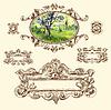 kalligraphische Design-Elemente und Dekoration Seite