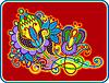 Original Hand draw line art kunstvollen Blumen-Design
