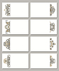 Set von Visitenkarten mit Blumenmustern | Stock Vektrografik