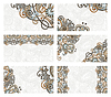 Set von Visitenkarte mit Blumenmuster | Stock Vektrografik