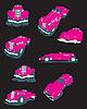 rosa glamouröse Autos