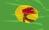Vektorbild, Flagge Zaire