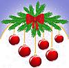 ID 3094225 | Красная новогодняя открытка с шарами | Векторный клипарт | CLIPARTO