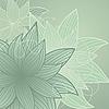 Зеленый фон с цветами | Векторный клипарт