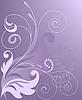 花紫色背景 | 向量插图