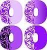 Цветочные буквицы O | Векторный клипарт