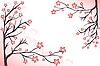 rosa blühende Zweige