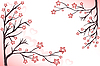 Rosa blühende Zweige | Stock Vektrografik