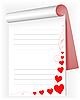 Notizbuch mit Herzen