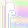 Сердца в пастельных тонах | Векторный клипарт