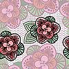 Кружевной цветочный фон | Векторный клипарт