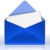 blauer Umschlag