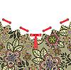 ID 3099657 | Kwiat pocztówka z czerwoną kokardką | Klipart wektorowy | KLIPARTO