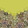 Зеленая цветочная открытка | Векторный клипарт
