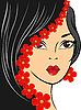 Mädchen mit roten Blumen