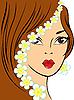 Mädchen mit weißen Blüten