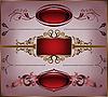 ID 3099673 | 一套老式帧 | 向量插图 | CLIPARTO
